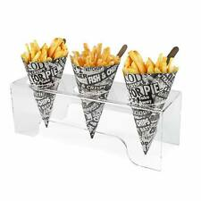 More details for chip cone holder acrylic display, fish & chip shops, kitchen, bbq, cafe (ds71)