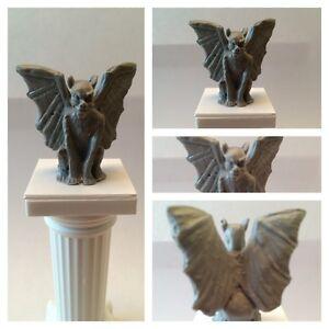 Miniature Plastic Gargoyle Statue Dollhouse Fantasy Myth Goth Diorama Decoration