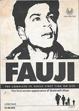 FAUJI - SHAHRUKH KHAN -  NEW HINDI TV SERIAL -  2 DVDs EDITION - FREE UK POST