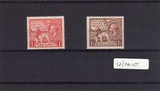 More details for british empire exhibition 1925 sg 432 433 set of 2 unmounted mint mnh  al144