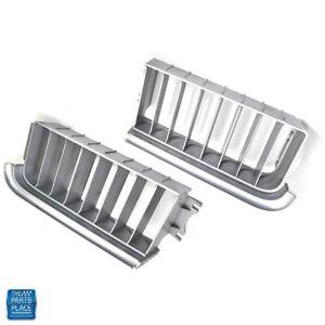 1969 Cutlass Standard Grille Silver Plastic GM 402182 402183 Pair