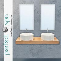 Badmöbel Winnipeg 1200 Waschtisch Badkeramik Spiegel Badezimmer Waschbecken Neu