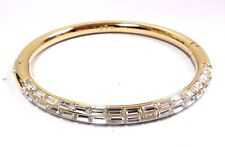 Retired Domino Crystal Bangle Large Gold Plate Swarovski Jewelry Retired 5184151