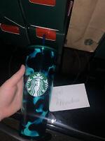 Starbucks Summer 2020 Teal Turquoise TORTOISE tumbler