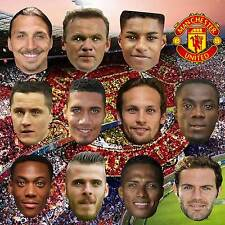 MANCHESTER UNITED FOOTBALL PARTY CARD FACE MASKS STAG BIRTHDAY LADS NIGHT #MP52