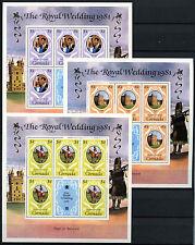 Grenada 1981 Royal Wedding MNH Sheets Set #D32830