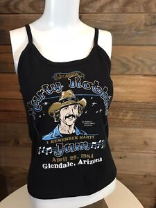 Vintg Marty Robbins 1st Annual Marty Jam Glendale AZ Apr/1984 Women's Tank Tee M