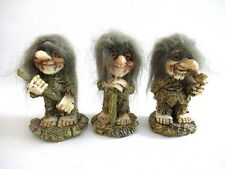 Set of 3 trolls made in Germany.