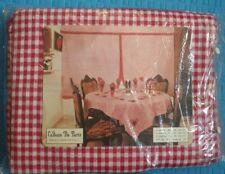 Cadeau De Paris Dining Table Cover, 6 Napkins, Wall Panel? Set Red White Cotton