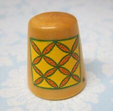 Hand Painted Signed Numbered Thimble Orange Peel Quilting Block Pattern M7