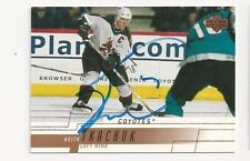 00/01 Upper Deck Autographed Hockey Card Keith Tkachuk Phoenix Coyotes