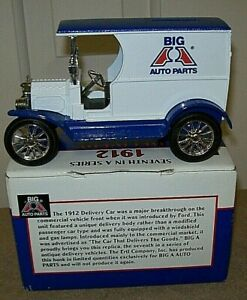 Big A Auto Parts 1912 Ford Delivery Car Coin Bank with Key - Ertl 1:25 Boxed