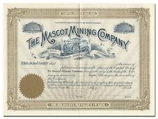 Mascot Mining Company Stock Certificate (Free Gold Mining District, Colorado)
