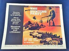 Original 1971 THE HUNTING PARTY Half Sheet Movie Poster 22 x 28 GENE HACKMAN