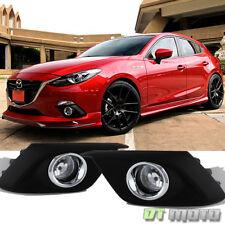 2014-2016 Mazda 3 [Glass Lens] Bumper Fog Lights Driving Lamps W /Switch Mazda 3