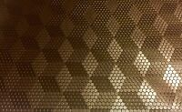 Außergewöhnliches 3D Effekt Karo & Würfel Kunstleder Meterware Braun 142cm breit