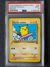 PSA 9 Mint - SURFING PIKACHU - Pokemon TCG: 2000 World Collection Promo #28