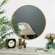 Miroirs dorés ronds pour la décoration intérieure