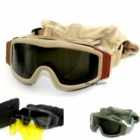 Top Quality Military Airsoft Tactical Goggles Shooting Glasses GX1000 Black 3 Le