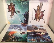 Monster Hunter generaciones nefasto cuatro Arte Pack-Tarjeta de Juego de promoción imprime + Póster