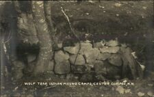 Center Ossipee NH Wolf Trap Indian Mound Camps Real Photo Postcard