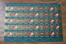 Denmark 1956 Christmas Seal mint sheet of 50 stamps MNH