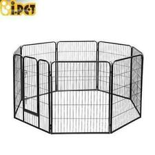 i.Pet - 8 Panel Pet Playpen (100 x 80 cm) Portable Exercise Cage Fence for Pets - (9350062099407)
