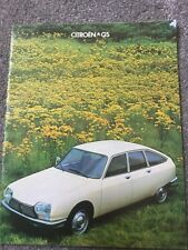 Citroen GS Sales Brochure - Softback - in very good condition