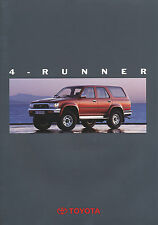 Toyota 4 Runner Prospekt 1992 2/92 brochure Autoprospekt brosjyre broschyr Auto