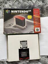 Official uk Nintendo 64 Memory Expansion Pak Pack PAL N64 boxed - Video Game
