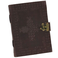Handmade Knotted Weave Celtic Cross Leather Blank Journal