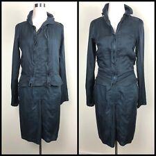 Vintage Yves Saint Laurent Rive Gauche Dark Bluegreen Skirt Suit, Size 38 / 4-6