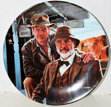 INDIANA JONES LAST CRUSADE PLATE W/HIS DAD SEAN CONNERY DELPHI VICTOR GADINO ART