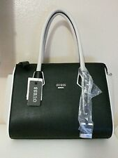 Guess handbag black white beige light gray new with tags satchel