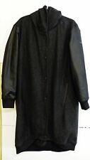 NWT Hussein Chalayan for Puma Men's Size L Black Zip/Button/Hooded Long Overcoat