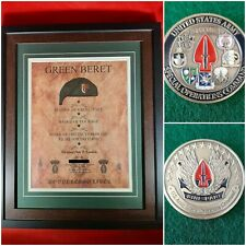 Mc-Best: Socom Coin and Personalized Special Forces Jfk Quote Framed