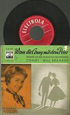 """x1 / Vinyl """"7 EP Single 45 / Wenn die Conny mit dem Peter / Conny Will Brandes"""