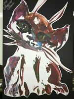 ORIGINAL katze MALEREI PAINTING zeichnung cat contemporary ART NAIV BILD A4 om 9