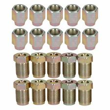 """12mm x 1mm Male and Female Steel Brake Pipe Fittings for 3/16"""" Pipe 20 Pack"""