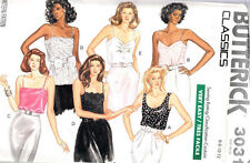 BUTTERICK SEWNG PATTERN #3031 MISSES CAMISOLE TOP SIZE 6-8-10-12