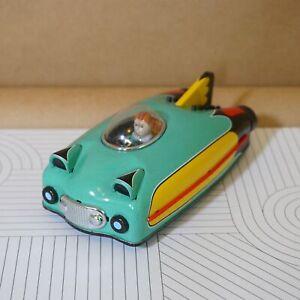 2009 Retro-Modern SCHYLLING Tin Litho Amazing Green and Yellow Future Rocket Car