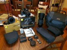 Nikon D5500 24.2MP Digital SLR Camera Complete Package with three lenses total.
