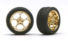 Pegasus 1216 x 1/24-1/25 Swirl Star Gold Rims w/Tires (4)