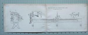 1847 Entwicklung Aufdruck Klein Selbst Acting & Schrauben Cutting Lathe By