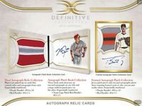2018 TOPPS DEFINITIVE BASEBALL LIVE RANDOM PLAYER 1 BOX BREAK