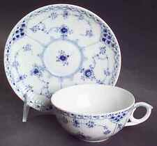 Royal Copenhagen BLUE FLUTED HALF LACE Cup & Saucer 6044117