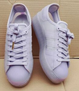 ADIDAS SUPERSTAR JELLY BOLD TRAINERS SEE THRU LILAC SIZE 6 UK LATEST DESIGN