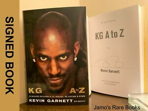 Kevin Garnett SIGNED BOOK KG : A to Z Hardcover FIRST EDITION ~ NBA Legend!