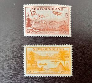 Newfoundland 1933 Air 5c and 10c MNH