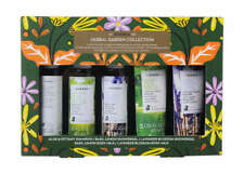 Korres herbal garden collection travel size shampoo shower gel body milk